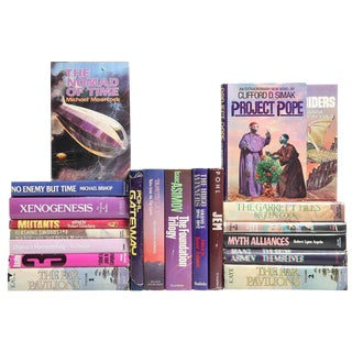 Berry-Toned Sci-Fi Book Mix - Set of 20