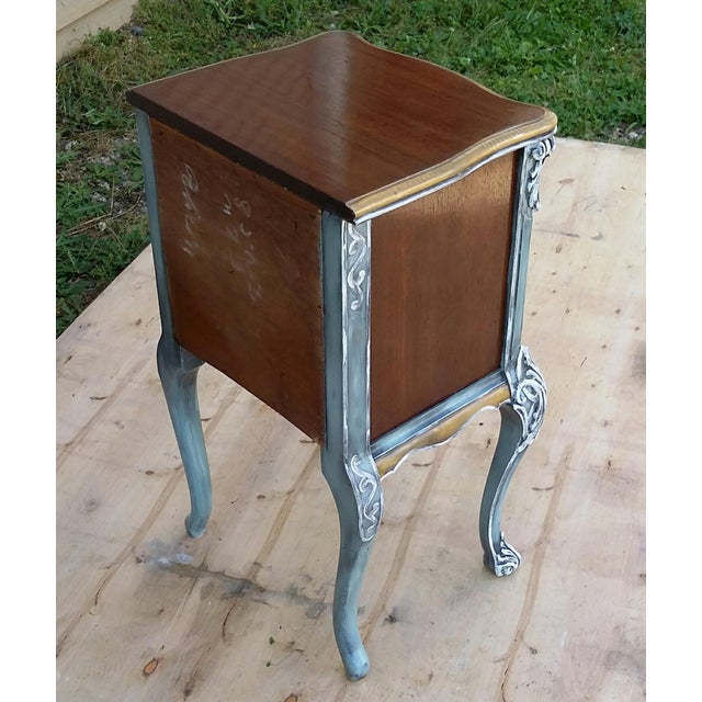 Hand-Painted French Nightstand - Image 5 of 9