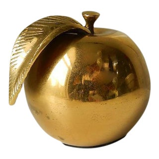 Solid Brass Apple Paperweight