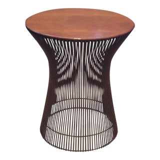 Warren Platner Rare Copper & Walnut Side Table