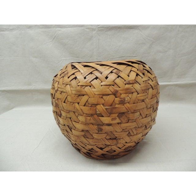 Vintage Woven Bamboo Basket - Image 2 of 3