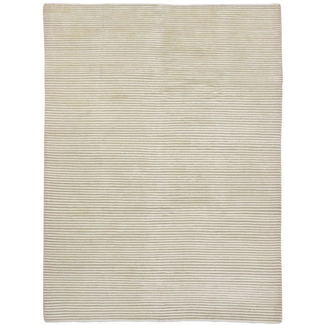 Creamy Beige Transitional Area Rug - 5'9 x 7'8 - Image 1 of 4
