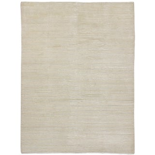 Creamy Beige Transitional Area Rug - 5'9 x 7'8