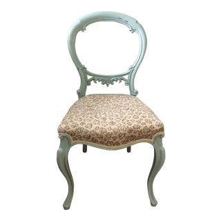Antique French Style Balloon Back Chair