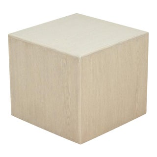 Whitewashed Oak Cube Table by Lawson-Fenning