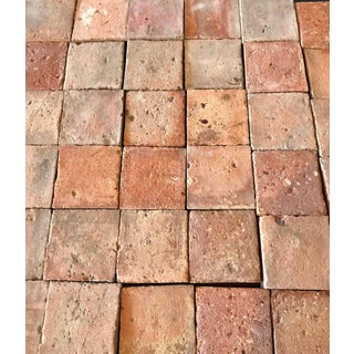 c. 1800s Antique Square Terracotta Tile