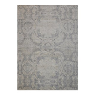 "Transitional Pasargard Silk & Wool Area Rug - 9'11"" X 14'1"""