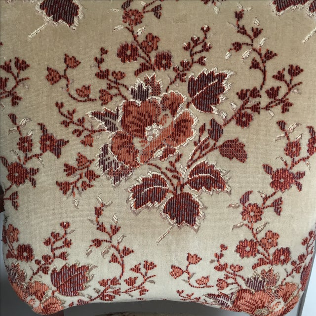 Floral French Provincial Chairs- A Pair - Image 5 of 7