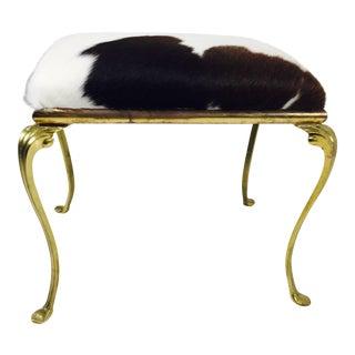 Queen Anne Style Vanity Bench