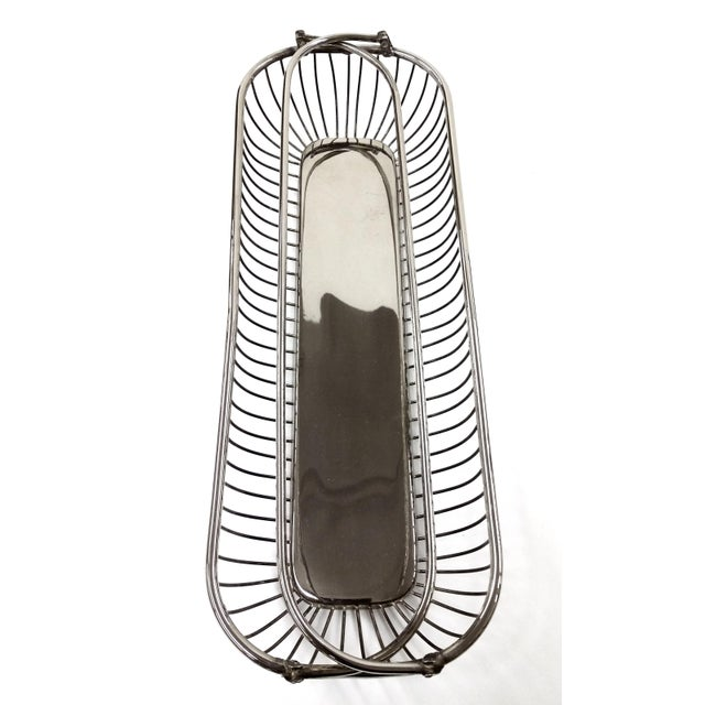Silver Plate Wire Bread Basket - Image 6 of 8