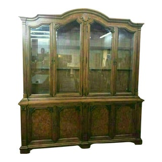 Solid Wood Mid-Century Modern China Cabinet by J.L. Metz