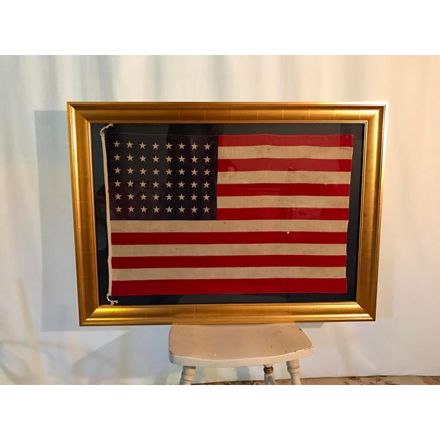 Rare Original 48 Star Newly Framed American Flag - Image 2 of 6