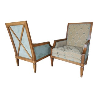Biedermeier Style Club Chairs- A Pair