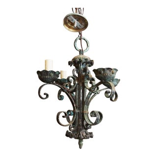 Italian Baroque Wrought Iron Chandelier