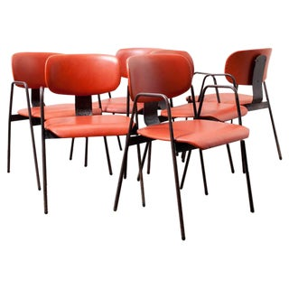 Willy Van Der Meeren F2 Arm Chair By Tubax - Set of 6