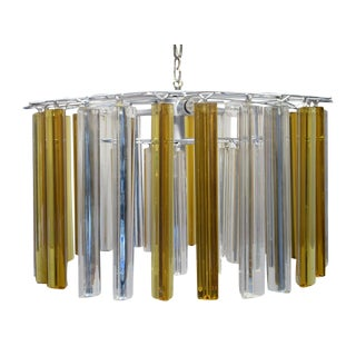 Vintage Retro Glass Rod Chandelier