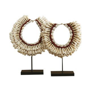 Mounted African Necklaces - Set of 2