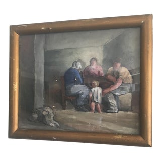 European Family Oil Painting