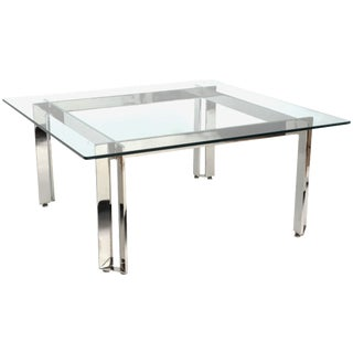 James Howell Steel & Glass Coffee Table