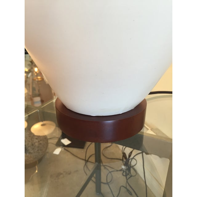 Mid-Century Ceramic Table Lamps With Shades - Pair - Image 6 of 7