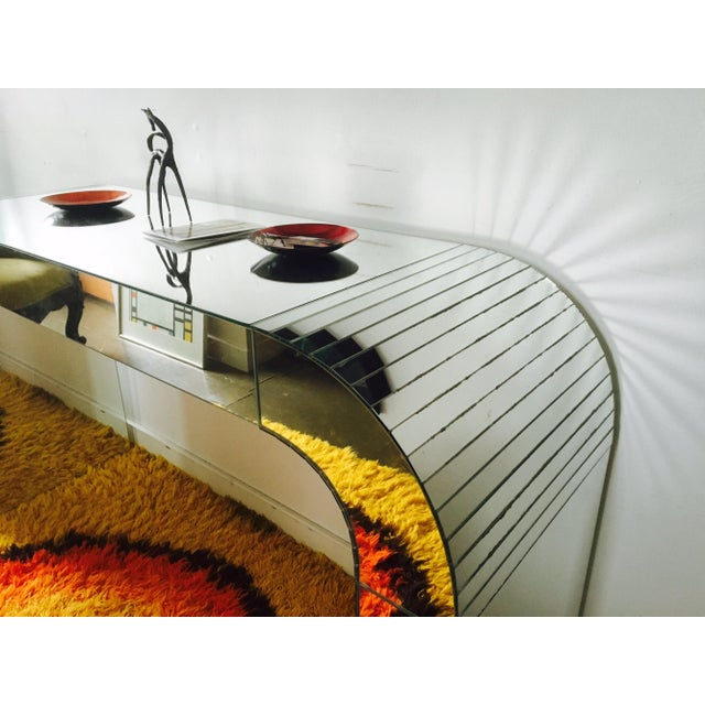 Vintage Mirrored Waterfall Console - Image 4 of 7