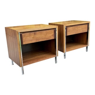 Lane Mid-Century Modern Nightstands - A Pair