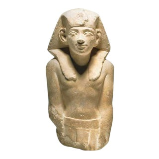 Ptolemaic Period Sandstone Sculpture of a King