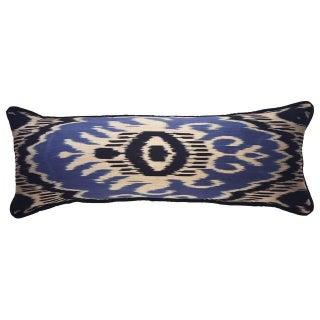 Large Silk Atlas Ikat Bolster Pillow