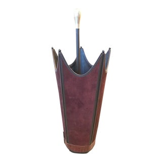 Brown Suede Umbrella Stand