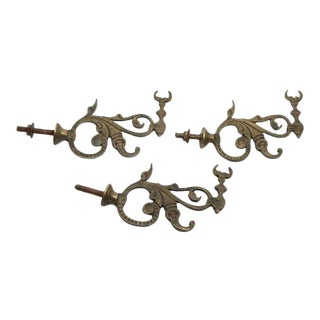 Bronze Bull Horn Hooks - Set of 3