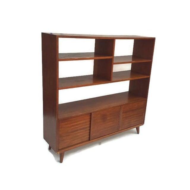 Mid-Century Modern Bookcase Wall Unit   Chairish