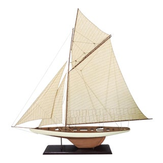 "1901 America's Cup ""Columbia"" Sailboat Model"