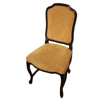 Grange Pompadour Gold Velour Side Chair