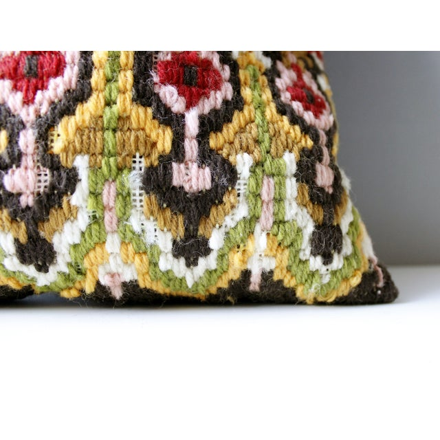 Vintage Needlepoint Pillow - Image 4 of 5