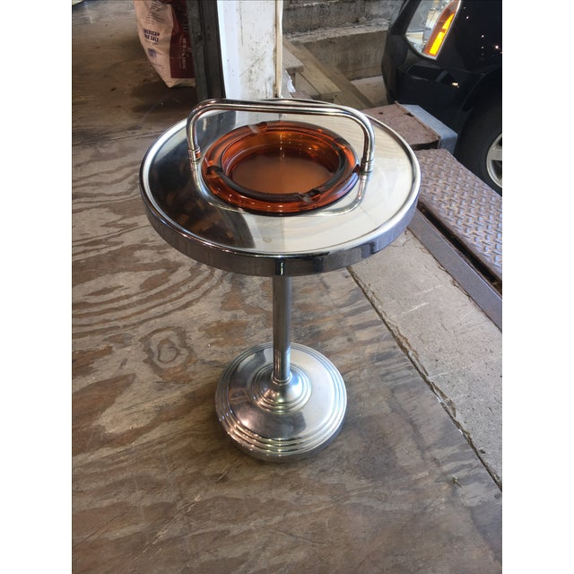 Machine Age Industrial Chrome Smoking Stand - Image 5 of 10