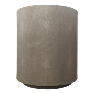 Decorative Textured Gray Round Side Table