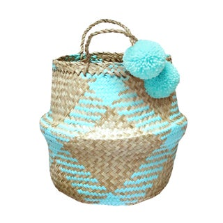 "Brunna ""Jack Bunnies"" Handwoven Seagrass Basket"
