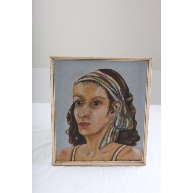 Vintage Portrait of Woman Oil Painting - Image 7 of 7