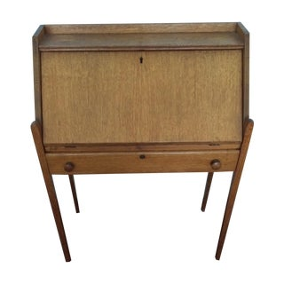 Vintage Oak Student Writing Desk
