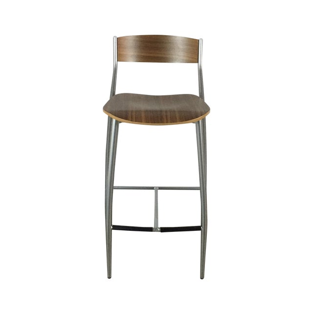 Image of Design Within Reach Walnut Baba Counter Stool