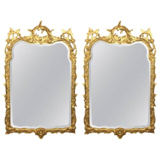 Giltwood Chippendale Style Mirrors by Friedman Bros - A Pair
