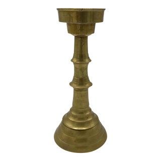 Modernist Brass Candlestick
