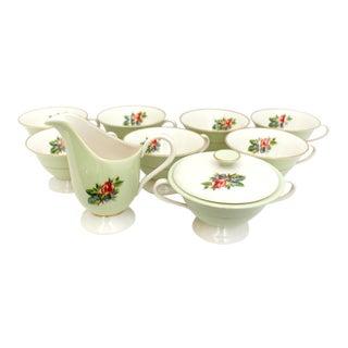 Vintage Fine China Rose Fine China Coffee & Tea Set - Set of 10