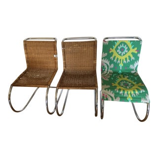 Mies Van Der Rohe Cantilevered Chairs - Set of 3