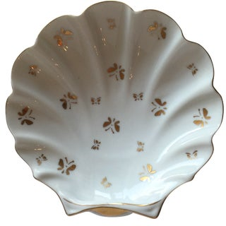 Vintage Scalloped Butterfly Dish