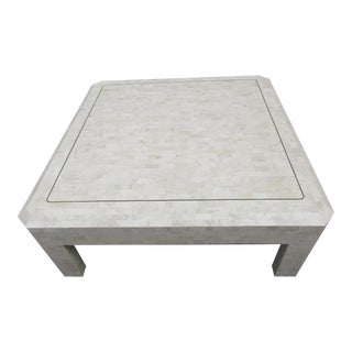 Maitland-Smith Tessellated Coral Stone Coffee Table
