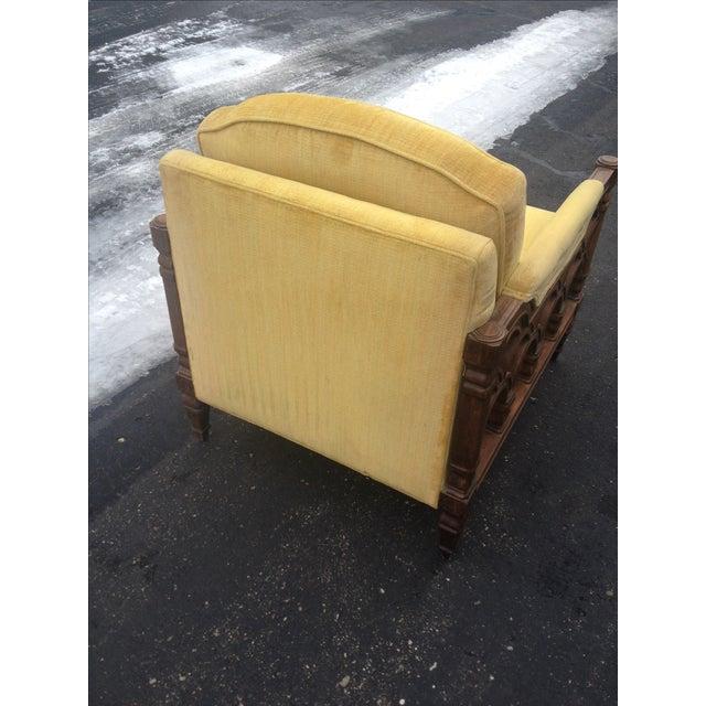 Mid-Century Thomasville Velour Club Chairs - Pair - Image 5 of 8