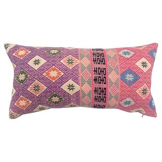 Silk Tribal Double Happiness Pillow