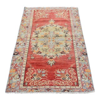 Antique Handmade Turkish Rug - 3′ × 4′11″