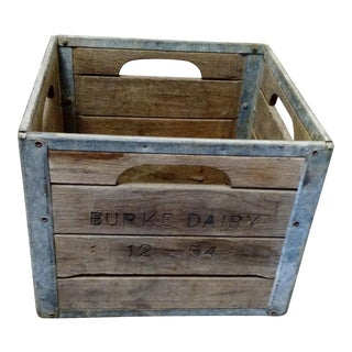 Antique Wooden Milk Crate